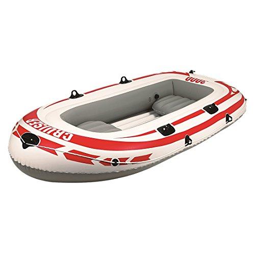 Jilong Cruiser III Set 252x125x40 cm Boot mit Pumpe & Paddel für 3 Person Ruderboot Paddelboot Schlauchboot Angelboot Gummiboot mit 265kg Tragkraft, Süß- und Salzwasser geeignet