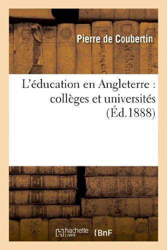 L'éducation en Angleterre : collèges et universités