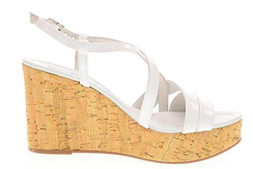 NERO GIARDINI chaussures femme sandales compensées P717660D / 707 Blanc