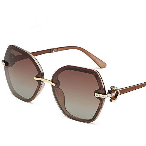 GEETAC Kai-Sonnenbrillen für Frauen, polarisiert 100% UV-Schutz Fahren Party Fashion Damen Sonnenbrille,Metallisch