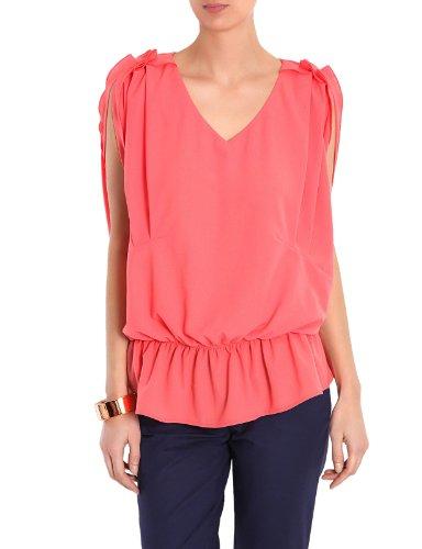 Morgan - Maglietta, senza maniche, donna Rosa (Pink (Corail))