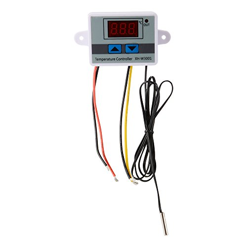 Kreema 24V Digital LED Temperatura Controlador Temperatura Termostato Calor Thermo Control Interruptor Sonda