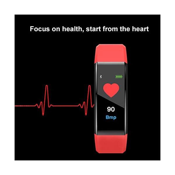 MENGZHEN 1 UNID Y3 Monitor de Actividad del Ritmo cardíaco Pantalla táctil Usable Podómetro Bluetooth Pulsera Inteligente con Monitor de sueño 6