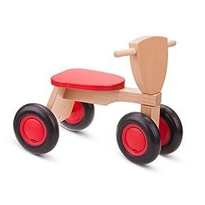 Eitech GmbH New Classic Toys - 11420 - Spielfahrzeuge - Blauer Rutscher Holz-Sitz-Roller