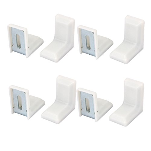 8 Stück 29x29mm Weiß Plastik Winkelverbinder Winkel Klammer Befestigungswinkel de