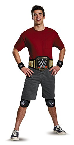 WWE Jakks - 17036 Champion Kit - Gürtel, Gelenk-Bandage und (Herren Wrestling Fancy Dress Kostüm)