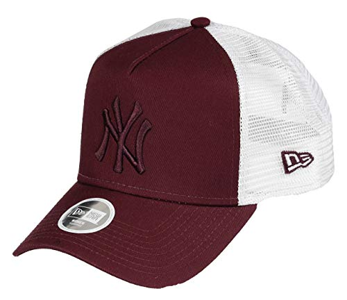 best sneakers 3e76e dc716 New Era York Yankees Frame Adjustable Women cap MLB Essential Maroon White  - One-