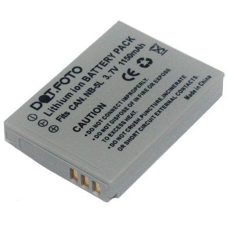 Dot.Foto Batterie de qualité pour Canon NB-5L - 1150mAh / 3,7v - garantie de 2 ans - Canon Digital IXUS 90 IS, 800 IS, 850 IS, 860 IS, 870 IS, 900 Ti, 950 IS, 960 IS, IXUS 970 IS, 980 IS, 990 IS / PowerShot S100, S110, SX200 IS, SX210 IS, SX220 HS, SX230 HS