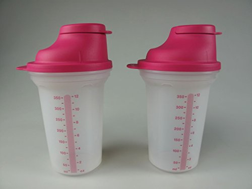 TUPPERWARE Backen Mix-Fix (2) klein 350 ml pink Shaky Küchenhelfer Shake It 8194 -