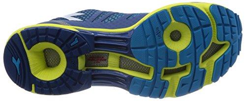 Diadora N-6100-2, Chaussures Homme Blu Scuro/Giallo Met