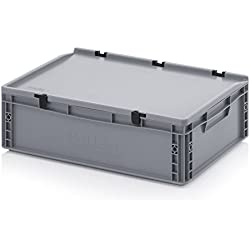Eurobehälter-Eurobox 60 x 40 x 18,5 cm mit Scharnierdeckel inkl. gratis Zollstock