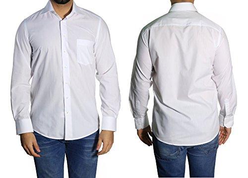Muga Business & Freizeit Hemd Weiß
