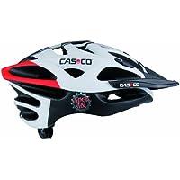 Casco CAS167 ciclismo unisex adulto, colore: nero/bianco/rosso