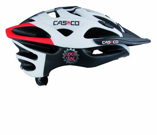 Casco CAS167 - Casco da ciclismo unisex adulto, colore: nero/bianco/rosso