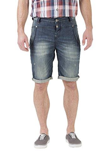 Timezone Herren Denim Short Stuad - Regular Fit Blue Tint Wash (3133)