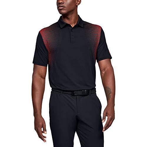 Under Armour Herren Playoff 2.0 Poloshirt, Schwarz(Black (007)/Beta Red), XXL