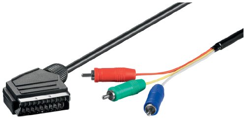 Wentronic 51305-GB 1.0m SCART Plug to 3 x RCA Plug (RGB) Video-Cable