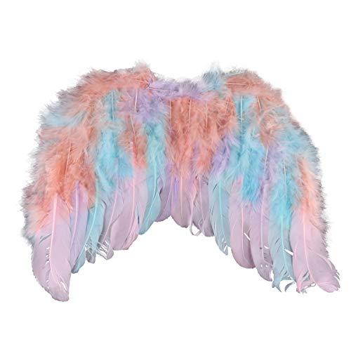Bunter Vogel Kostüm - Tiaobug Vogelflügel Kinderkostüm Authentische Federflügel Leuchtende