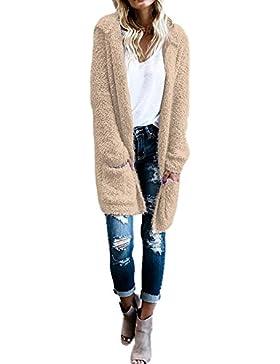 Chaqueta Punto Mujer, AIMEE7 Chaqueta de lana de las mujeres chaqueta de abrigo con capucha de punto manga larga...