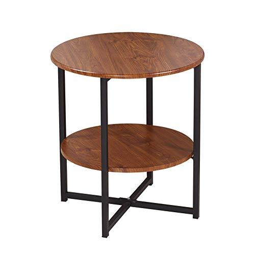 Beistelltische, Tische Hochglanz-Couchtisch-Set Satztische Couchtisch aus Holz Beistelltische für das Wohnzimmer, multifunktionaler Beistelltisch (Farbe: Braun + Schwarz, Größe: 40 * 40 * 47 cm) Yellow Tea Platte