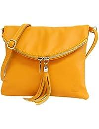 760047f706363 AMBRA Moda Italienische Ledertasche Schultertasche Crossover Umhängetasche  Nappaleder Damen Kleine Tasche NL610