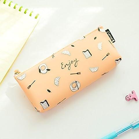bolsas de papelería de vacaciones de impresión de silicona PDA jalea estudiante lápiz bolso de la pluma sencilla cremallera
