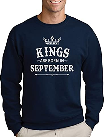 Geschenk Pullover für Ihn - Kings are born in September