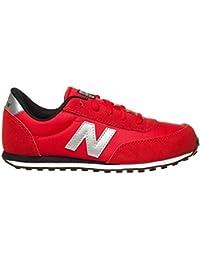 New Balance - 410 Classics Traditionnels - Color: Negro-Plateado-Rojo - Size: 38.5
