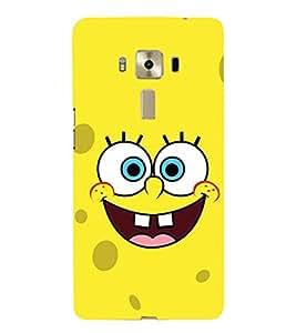 FUSON Smiley Face Yellow Smile 3D Hard Polycarbonate Designer Back Case Cover for Asus Zenfone 3 Laser ZC551KL (5.5 Inches)
