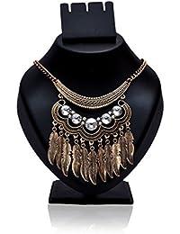 Samarth Fashion Antique Half Moon Designed Tassel Necklace Set For Women/Girls