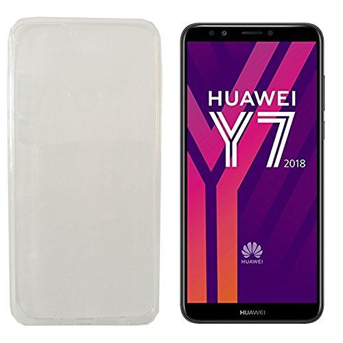 MOELECTRONIX TPU TRANSPARENT Silikon Schutzhülle Soft Case Tasche Hülle für Huawei Y7 2018 Dual SIM LDN-L21