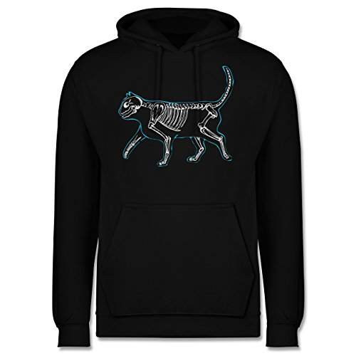 Shirtracer Katzen - Spooky cat - XL - Schwarz - JH001 - Herren Hoodie