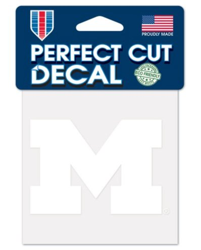 Wincraft NCAA University Michigan Wolverines Aufkleber 10,2 x 10,2 cm, Weiß (Wolverine-aufkleber)