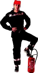 Party Pro 871202disfraz de bombero francés, negro, M/L