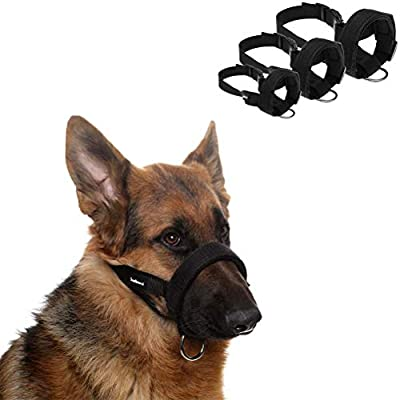 SCENEREAL Dog Muzzles for Small Medium Large Dogs Adjustable Soft Safety Muzzle for Dogs Anti Biting Barking from SAILE