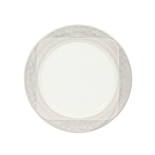 Novastyl 8011903.0 Imposture Lot de 6 Assiettes Dessert Faïence Gris Anthracite 20,8 x 20,8 x 2,2 cm