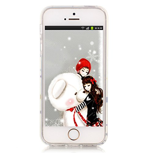 Pheant® Apple iPhone SE/5S/5 Coque Gel Étui Housse de Protection Transparent Cas en TPU Soulple Silicone(Panda) Panda