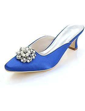 Pantofole / Pantofole Delle Donne Degli alti Talloni / Cortili Multi-Colore / Grande / Cerimonia Nuziale 0723-15K