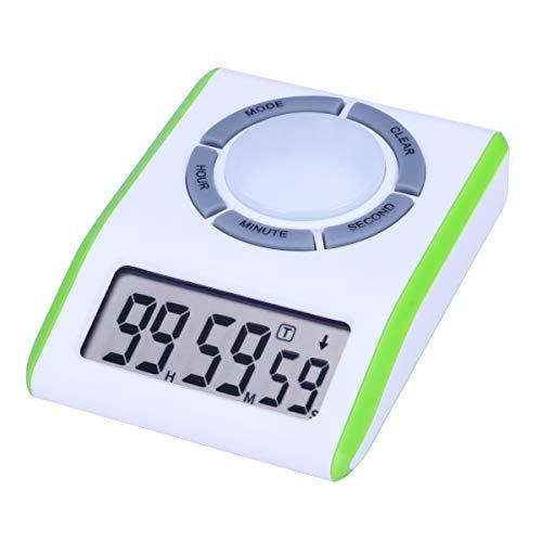 AIMILAR Digitaler Countdown-Timer mit Loop-Timer - Wiederholungszykluszählung nach oben und unten Timer für Küche Kochen Kinder Spiele Studenten Lehrer grün
