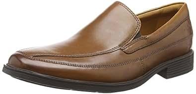 Clarks Men's Tilden Free Loafers Brown (Dark Tan Leather) 6 UK
