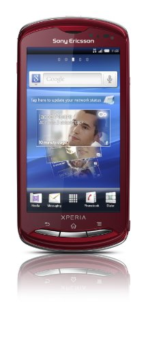 Sony Sony Ericsson Xperia pro Smartphone (9.4 cm (3.7 Zoll) Tochscreen, 8.1 Megapixel Kamera, 1GB Speicher, Android 2.3) rot