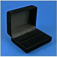 Premium Quality Cufflink Cuff link Presentation Box (Black Velvet Large)