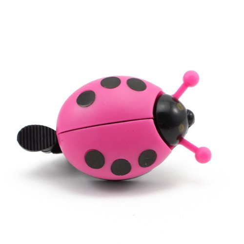 Generic Kid Funny Ladybug Cycling Ride Bike Ring Bell (Hot Pink) by Generic