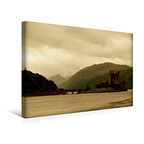 Eilean Donan Castle (Premium Textil-Leinwand 45 cm x 30 cm quer, Eilean Donan Castle | Wandbild, Bild auf Keilrahmen, Fertigbild auf echter Leinwand, Leinwanddruck: Ein ... Wahrzeichen Schottlands (CALVENDO Orte))