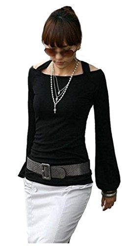Mississhop Amel Damen Bluse Tunika Longshirt Top Shirt Pullover Schwarz M 36 38 -