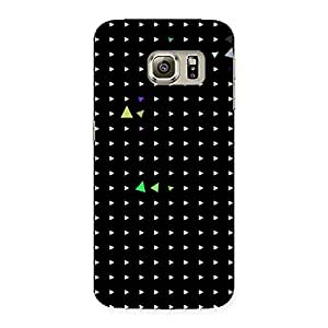 NEO WORLD Remarkable Cute Little Trianges Back Case Cover for Samsung Galaxy S6 Edge