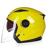 Casque Moto Casque Moto Double lentille été/Hiver Casque Ouvert Casque Moto Casque de Moto, l, 7