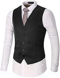 AYG Hommes Slim Fit Vestes Gaine habituelle Gilet Business Jacket M-3XL