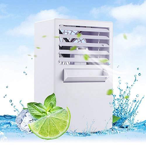 WAYDKT Luftkühler Desktop Mini Air Conditioner Fan Luftbefeuchter Befeuchtungsgerät Tragbare Kleine Klimaanlagenlüfter -