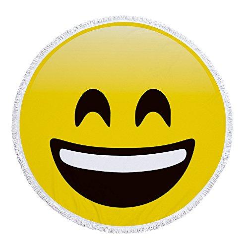 BBQBQ Gedruckte runde Strandtuch Expressionspackung Sonnencreme -05 150 * 150cm